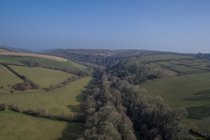 Looking northwards (from 100ft!) along the winding Avon valley