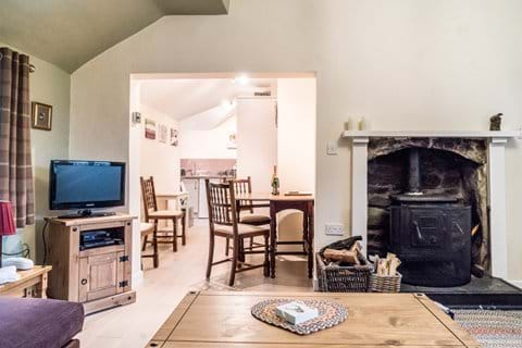 The open plan kitchen, dining, living room is perfect for socialising