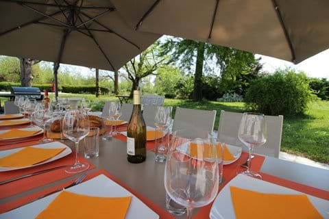 Enjoy meals on the terrace