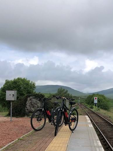 Day trip to Corrour Station and cycling back along the Road to the Isles.
