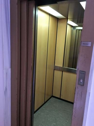 The lift to holiday apartment