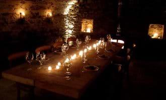 Villa Rustica vaulted cellar dining room