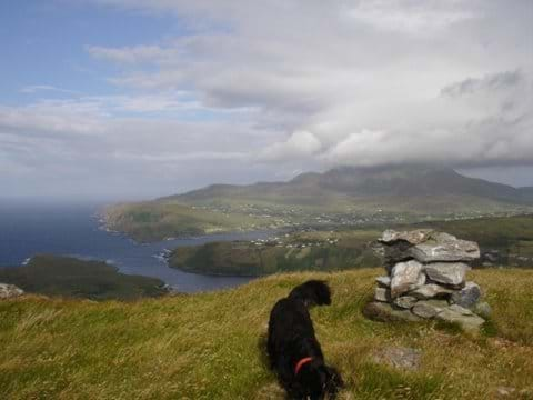View of Slieve league from Croagh Muckros summit