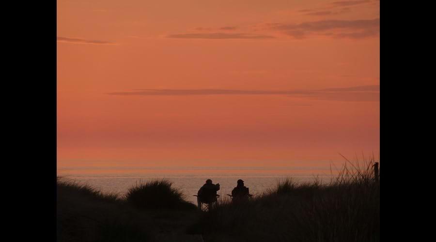 Sunset on Smeale Beach.