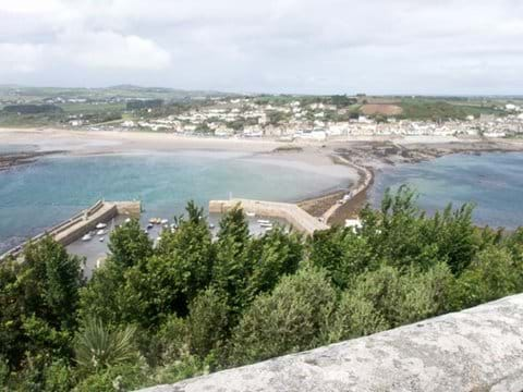 View from St micheals mount towards Marazion