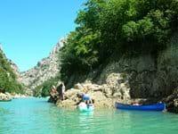 Canoeing up the Gorges de Verdon