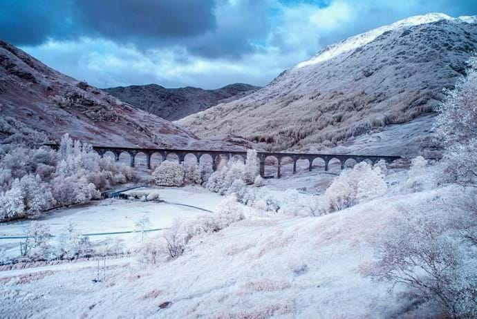 Glenfinnan Viaduct in the snow