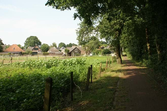 Bicycle path alongside