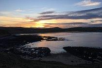 Sandend Beach at sunset