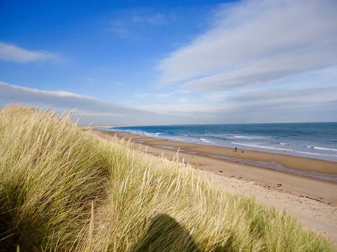 The spectacular beach at Druridge Bay is literally on the doorstep