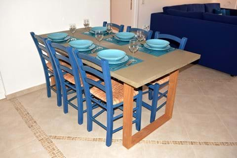 Large, Concrete-Look Table Seats Six (6)