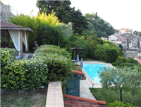 Garden view towards the village