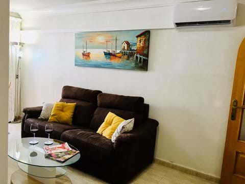Holiday apartment, living room, aircon