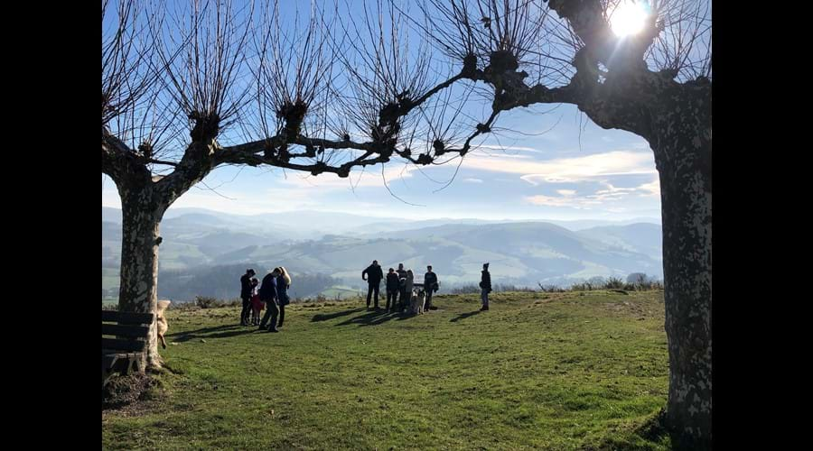 Hiking in the foothills of the Pyrenees - at Gibraltar, near St Palais
