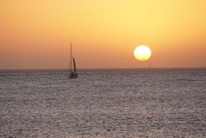 Sunset looking towards Fuerteventura