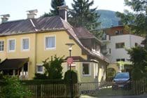 Chalet Struber - front of house with off street parking for 2 cars