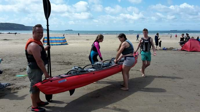 Kayaking at Broadhaven