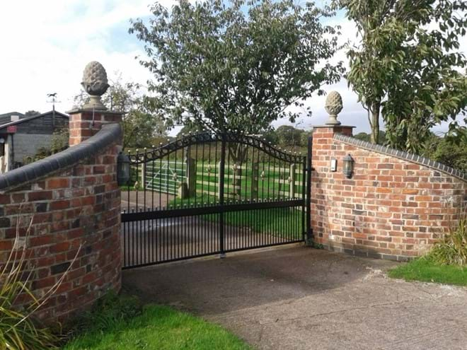 Gated entrance to yard