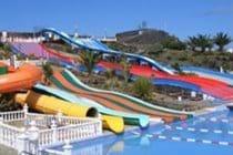 Costa Teguise water park is 15/20min walk away