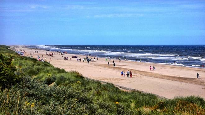 Mablethorpe Beach approx 8 miles from Muntjac