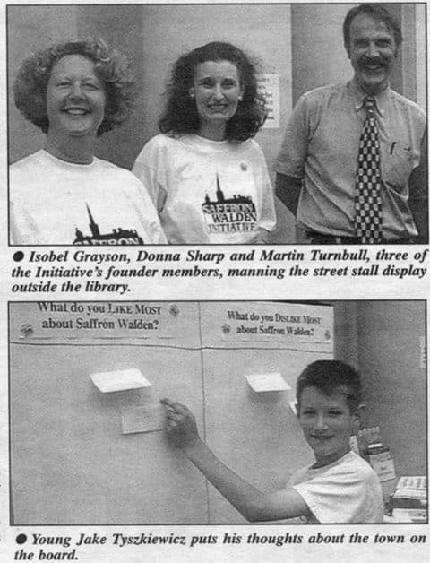 Public feedback event, August 2001 (photo Walden Local)