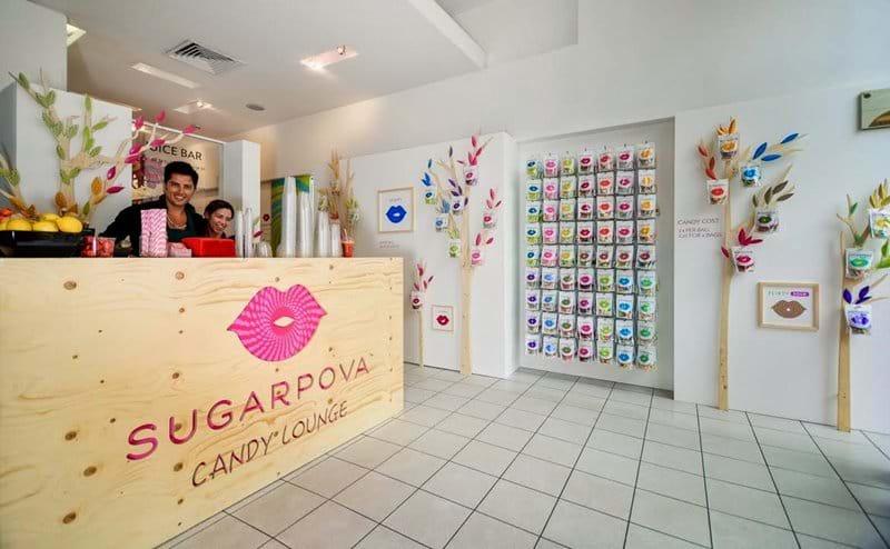 Sharapova sweet shop a 10 minute walk