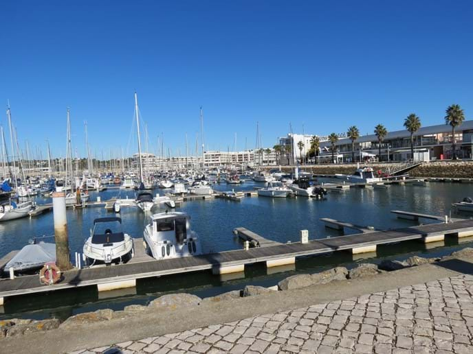 Lagos Marina in February - cold but sunny