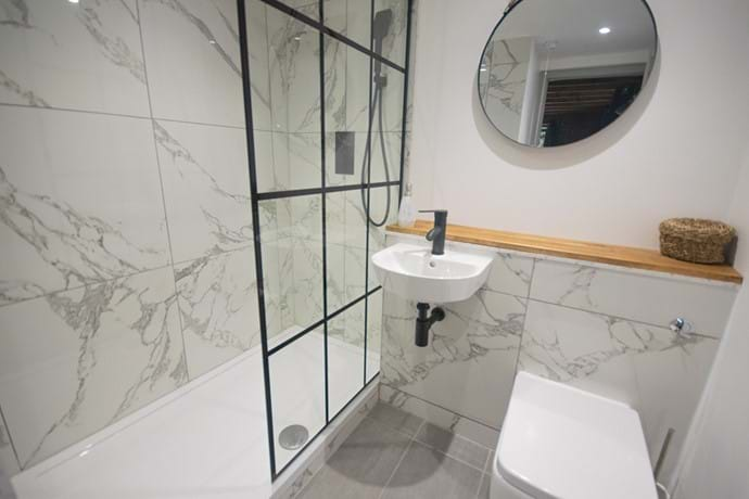Master ensuite with large walk-in shower