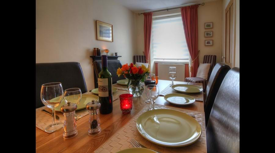 Separate dining room - seats six in comfort