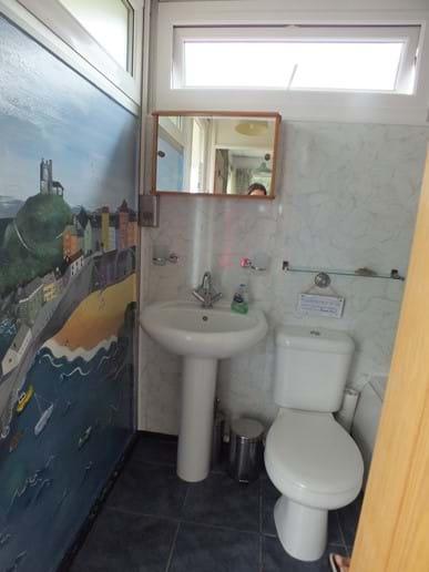 Bathroom and Tenby mural