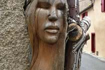 Street sculpture, Montolieu