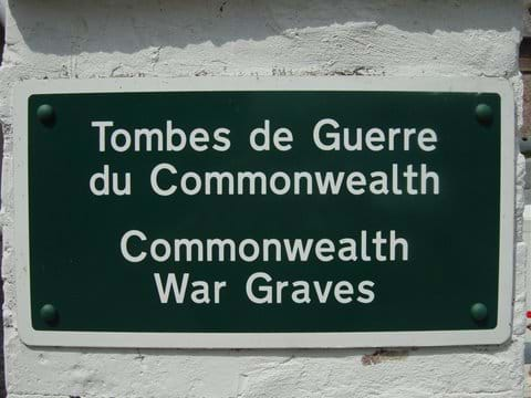 Within easy reach of the many Commonwealth War Graves