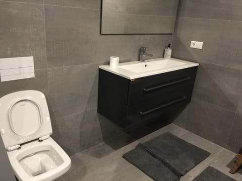Basement bathroom 3 for 2 rooms in basement