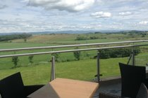 View over Eden Valley from Whitbarrow Restaurant