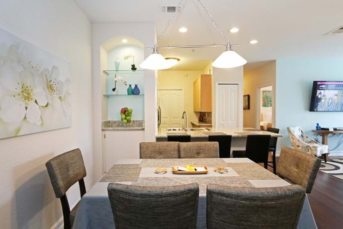 The dining area at our 4 bedroom condo 13-102 at Legacy Dunes