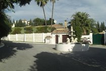 Palm Villa entrance just 250 metres away from the village of El Paraiso