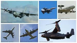 Some of the aircraft you can view from the lodge.
