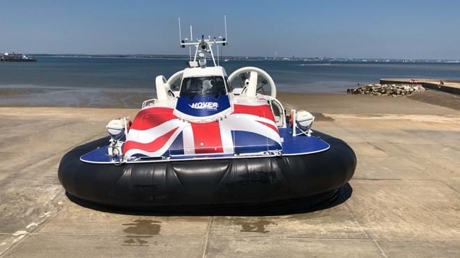 Only ommercial hovercraft in the world running between Ryde and Southsea (Portsmouth)