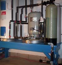 State of the art water system provides plenty of clean and fresh water drawn from a deep drilled well.