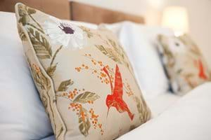 Luxurious silk cushions