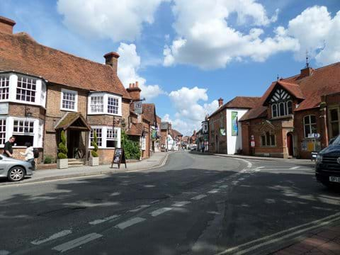 Approaching Goring Village Centre