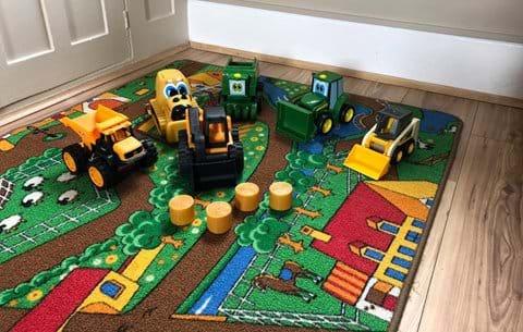 Inside farm based toys : Child friendly accommodation in Rutland