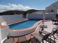 Casa Las Palomas 4 Bedroom House Terrace and Swimming Pool Area.