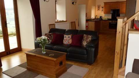 Open Plan Living Area and Patio Doors