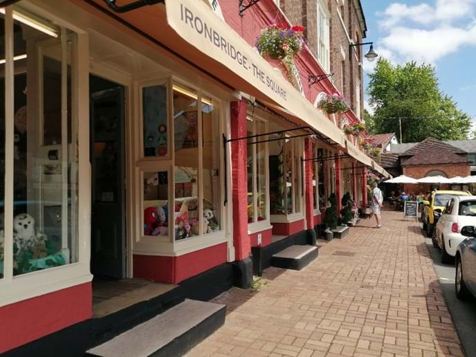Quaint little shops in Ironbridge