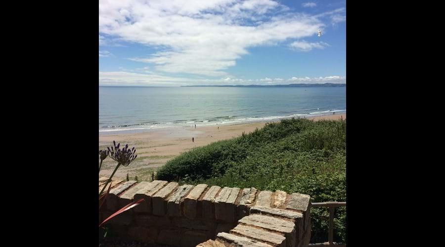 Enjoy lunch overlooking the beach