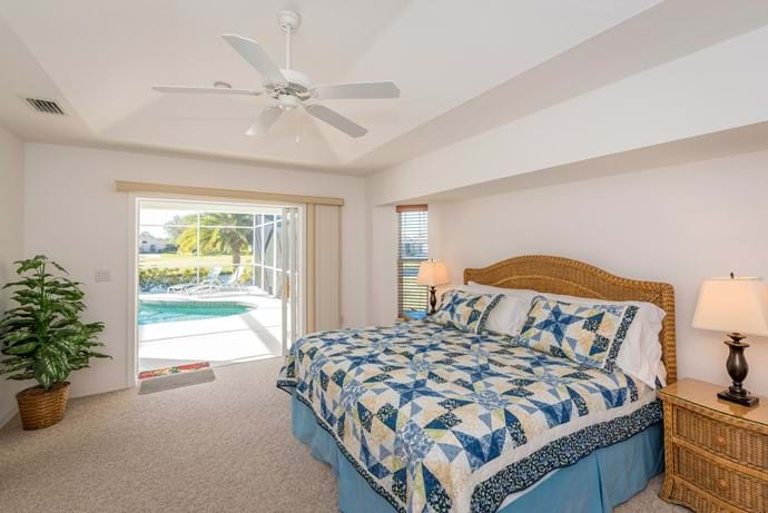 Master Bedroom looking out to pool