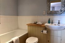 Blue Room ensuite bathroom with walk in shower