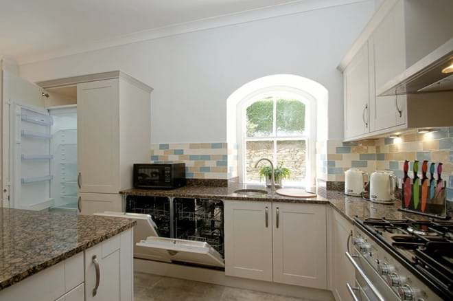 photo showing cooking facilities at Eisteddfa Country House kitchen Criccieth