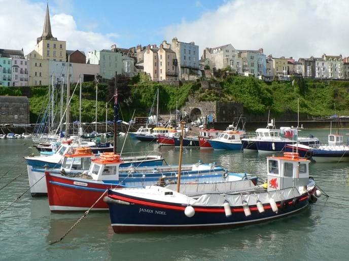 Caldey Island boats, Tenby